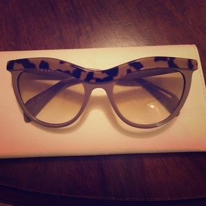 Prada cement brown cat eye sunglasses